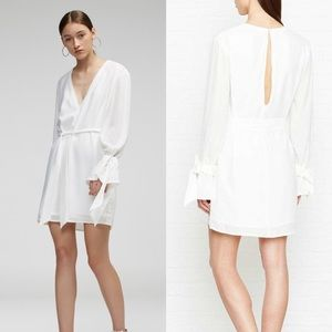 NWT C/MEO collection white dress